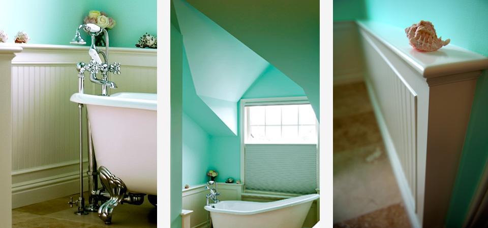 custom designed master bathroom