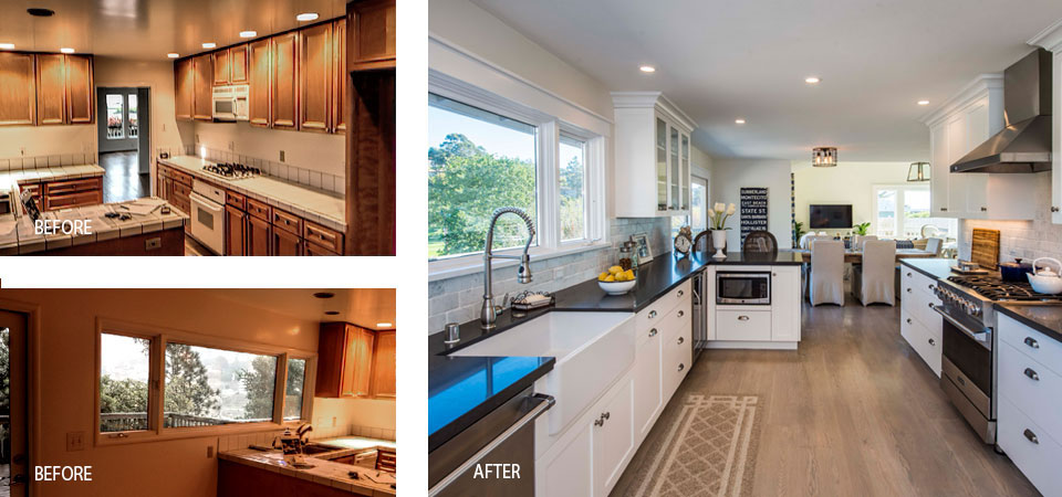 tiburon kitchen before and after